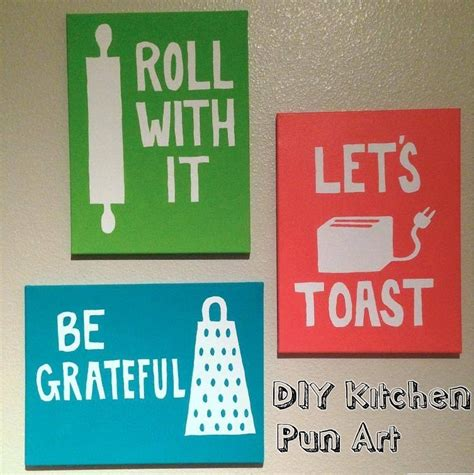 Inexpensive Kitchen Wall Decorating Ideas Kitchen Pun Fun Bunny Baubles