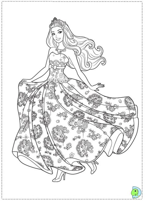 coloring pages barbie princess az coloring pages