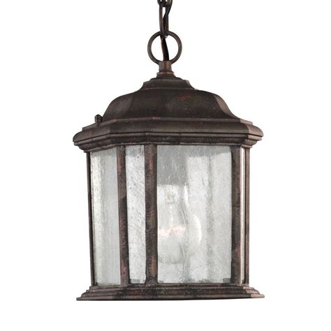 outdoor pendant light fixture sea gull lighting kent 1 light oxford bronze outdoor pendant fixture 60029 746 the home depot