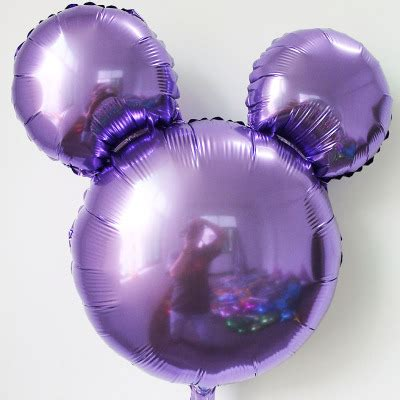 mickey mouse light up balloons mickey balloons 18 inch solid purple mickey
