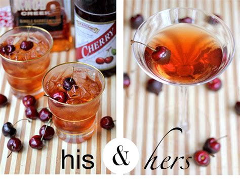 your southern peach his hers valentines day cocktails
