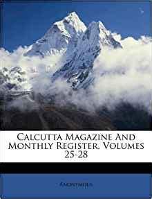 calcutta magazine  monthly register volumes