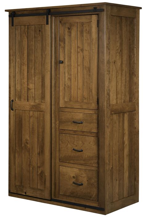 Barn Door Cabinets Sliding Barn Door Wardrobe Cabinet From Dutchcrafters