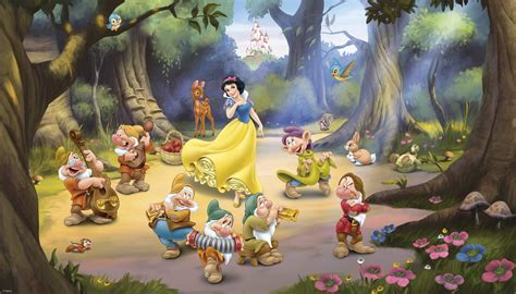 Tinkerbell Wall Murals princess snow white mickey mouse pictures