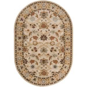 Oval Area Rugs Artistic Weavers Beige 6 Ft X 9 Ft Oval Area Rug Jhn 1010 The Home Depot