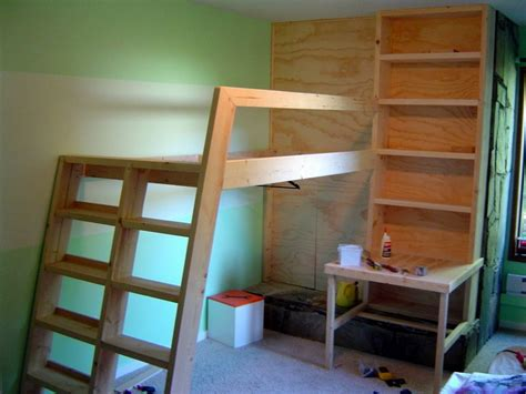 diy loft bed with desk diy loft bed