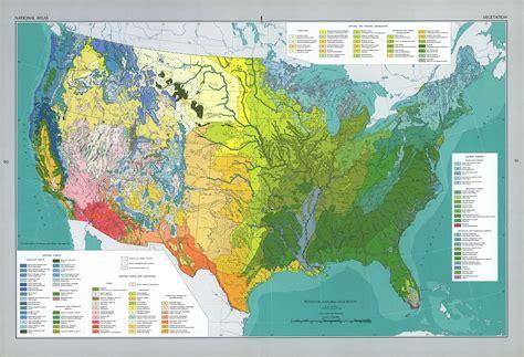 vegetation map of america maps of united states vegetation map mapa owje