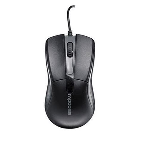 Rapoo N1010 Wired Optical Mouse Black 1 rapoo n1010 wired optical mouse rp013