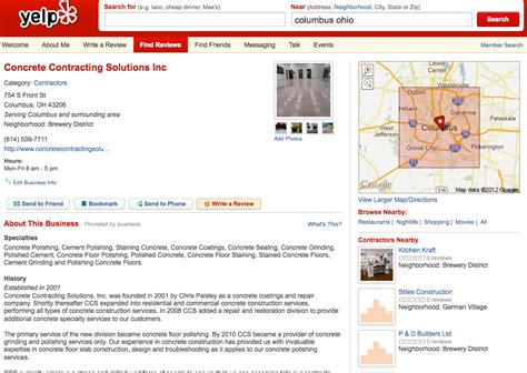 Find On Yelp Find Us On Yelp Concrete Contracting Solutions