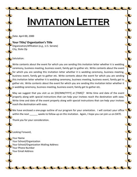 Wedding Invitation Letter Size Wedding Invitation Letter Informal Wedding Invitation Letter Sles Small Black Fonts Size