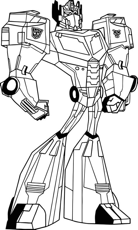 Optimus Prime Coloring Page by Transformers Animated Coloring Pages Optimus Prime Www