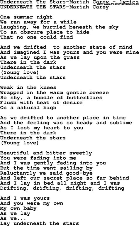 lyrics carey song lyrics for underneath the carey