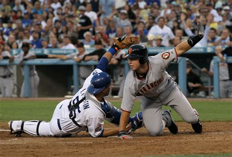 giants vs dodgers at coconut grove catch the end of the