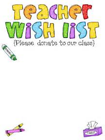 Classroom Wish List Template Welcome To Room 36 July 2011