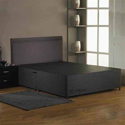 divan bed without headboard hf4you fabric divan bed base charcoal black cream
