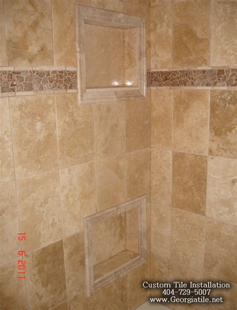Travertine Tile Bathroom Shower Tub Shower Travertine Shower Ideas Pictures