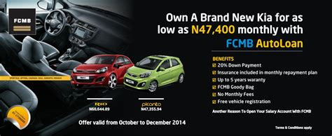 Kia Motors Auto Finance Kia Nigeria Partners Fcmb On Auto Loan
