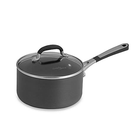 bed bath and beyond calphalon buy simply calphalon 174 nonstick 2 quart saucepan from bed