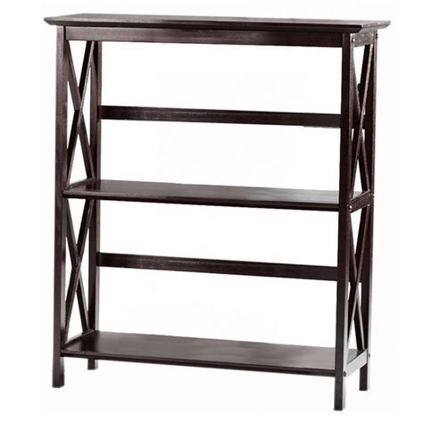 home decorators collection montego espresso open bookcase