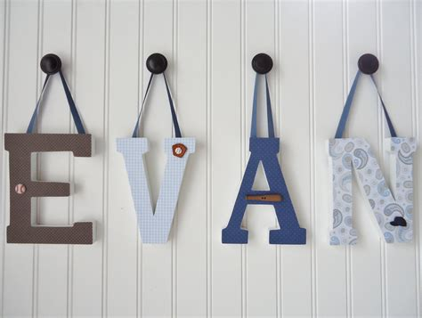How To Decorate Wooden Letters For Nursery Items Similar To Wall Letters Nursery Wall Decor Wooden Letters Custom Name Nursery Boy