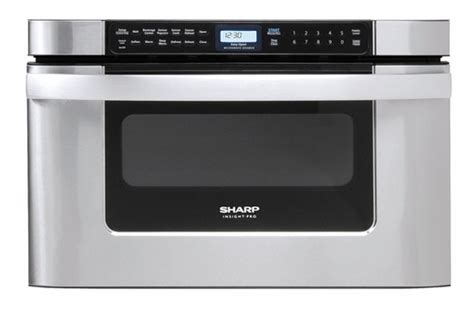 Sharp Easy Open Microwave Drawer by Kb 6524ps Sharp 24 Quot Easy Open Microwave Drawer Stainless