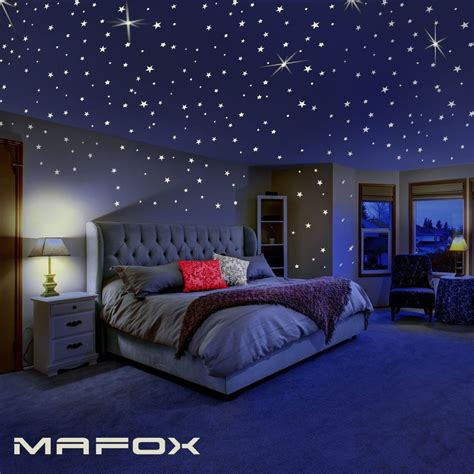 realistic  wall sticker glow   dark stars  ceiling  wall stickers  ebay