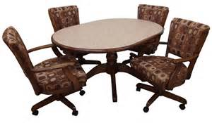 dinette sets with caster chairs alfa dinettes tobias dinette set 105 caster chairs