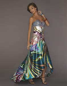 multi color prom dress prints prom dress with multi color jewels1