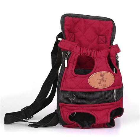 puppy pouch puppy pet cat pouch front bag or back pack backpack carrier with legs out ebay