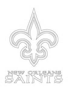 new orleans coloring coloriage logo des saints de la nouvelle orl 233 ans