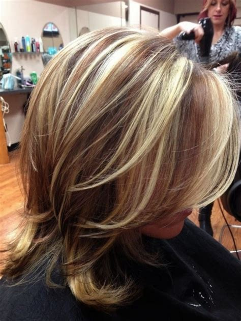 highlights for black hair and layered for ladies over 50 hair color highlights and lowlights women medium haircut