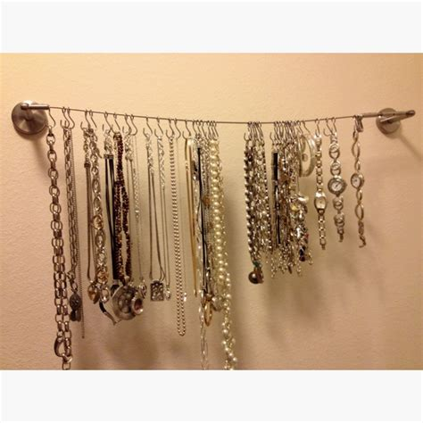 wire curtain hanger jewelry hanger from ikea curtain wire totally awesome