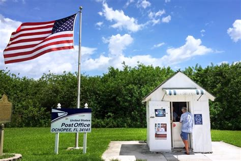 in the vast everglades the nation s smallest post office