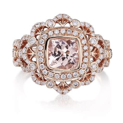 Light Pink Morganite 6 62ct vintage morganite engagement ring 1 62ct cushion cut