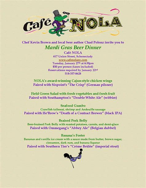 mardi gras dinner menu cdcbc late january 2015 updated 1 27 nut