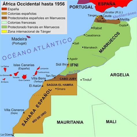 espana y africa mapa el rincn de sidi ifni segura valero en ifni combatimos
