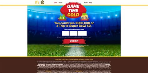 Mcdonalds Online Sweepstakes - game time gold at mcdonald s online sweepstakes week 1 has just kicked off