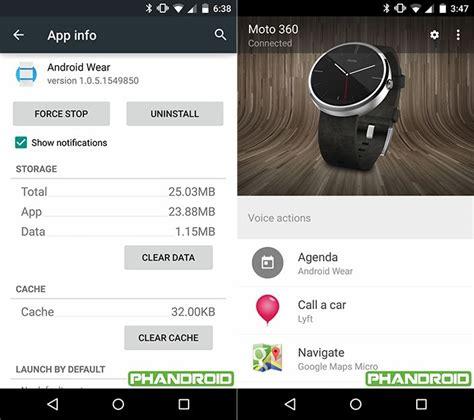 android wear app la app android wear con material design primeras im 225 genes oficiales