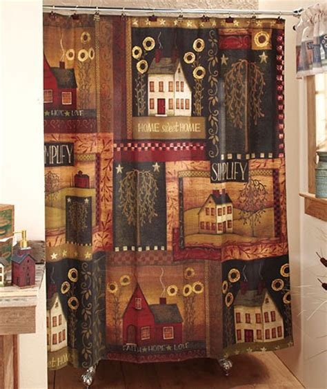 country bathroom shower curtains primitive simplify country house willow tree bath room