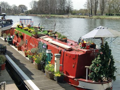 living on a canal boat to live on a canal boat with a rooftop lawn and garden