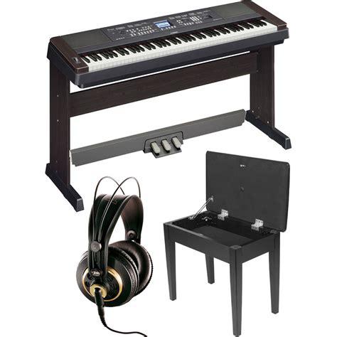 Keyboard Yamaha Dgx 650 yamaha dgx 650 portablegrand piano expansion kit black b h