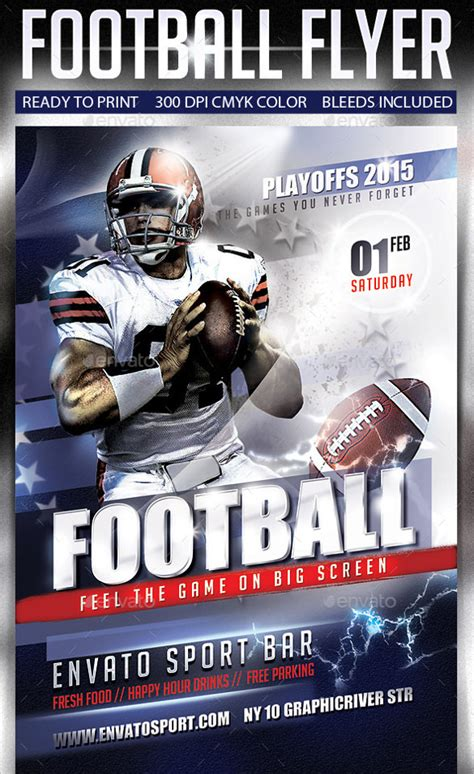 football flyers templates spectacular football flyer templates 14