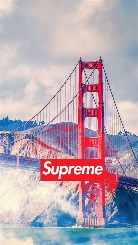 golden gate bridge san francisco supreme supreme supreme wallpaper