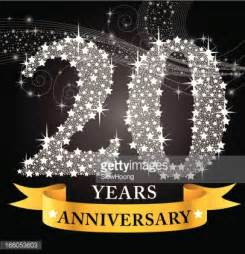 20th anniversary color 20th anniversary vector getty images