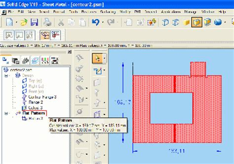flat pattern drawing solid edge sheet metal productivity on the edge solid edge tutorial