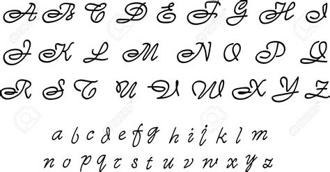 Fancy Cursive Letters A Z Graffiti Art Collection Writing To