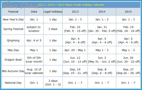 china holiday schedule travelsfinders com