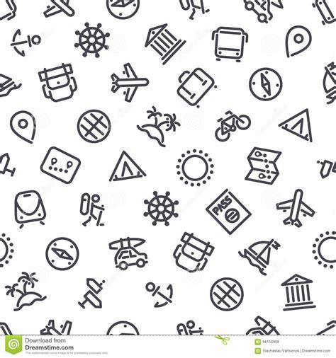 pattern travel background travel seamless pattern cartoon vector cartoondealer com