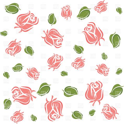 clipart wallpaper wallpaper with rose buds and leaves vector image vector