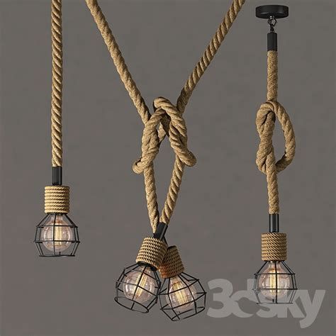3d models ceiling light rope suspension l